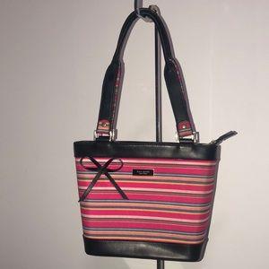 Kate Spade pink striped handbag